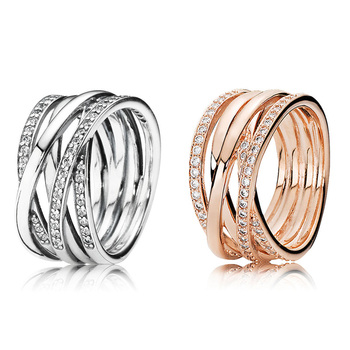 Hot Sale 925 Sterling Silver Ring With Full Style Rings For Women Wedding Ring Jewelry Gift