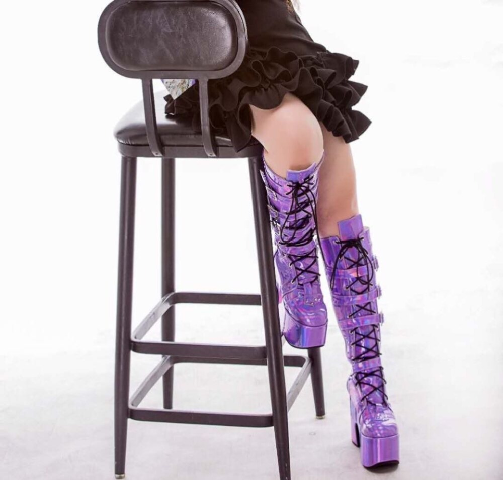Colorful-High-Platform-Knee-High-Boots-Lolita-Cosplay-Show-Buckle-Strape-Lace-up-Thigh-Boots-Custom-Exclusive-1