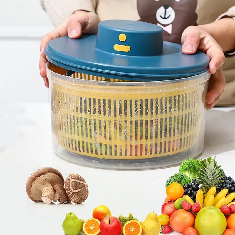 Electric Vegetables Fruits Dryer Household Salad Spinner Fruit Wash Clean Basket Storage Drying Machine Vegetable Dehydrator
