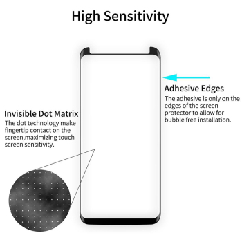 Glass Screen Protector Full Glue Adhesive Tempered Glass Screen Protector Case Friendly Film for Samsung Galaxy S9 S8 Plus image
