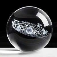Bola del Sistema Solar grabado con láser 3D miniatura modelo planetas esfera de cristal bolas hogareñas para decoración accesorios Decoracion Hogar