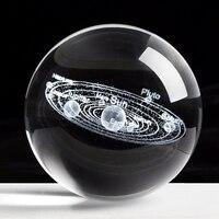 Laser Gravierte Solar System Ball 3D Miniatur Planeten Modell Kugel Kristall Ball Dekoration Zubehör Decoracion Hogar|Deko-Kugeln|Heim und Garten -