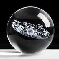 Sistema Solar grabado con láser bola 3D miniatura modelo planetas esfera de cristal bolas hogareñas para Decoración Accesorios decoración Hogar