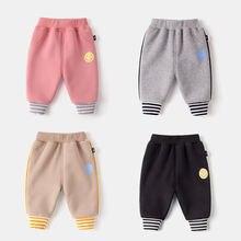 Штаны для маленьких мальчиков и девочек плотные брюки детская