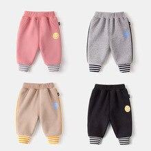 Toddler Pants Trousers Autumn Baby-Boys-Girls Winter Stripe Velvet Thick Children