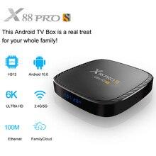 X88 pro s caixa de tv inteligente android 10.0 bt5.0 caixa de tv 2.4g/5g wifi hd 6k 32g 64g 128g media player caixa de tv android