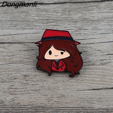 BG041 Dongmanli Cartoon Cute Girl Enamel Pins Brooch Women Lapel Backpack Bags Badges Funny Jewelry Gifts banana brooch creative tricky funny cute badge backpack fruits pins jewelry pin women men student cartoon enamel corsage gifts