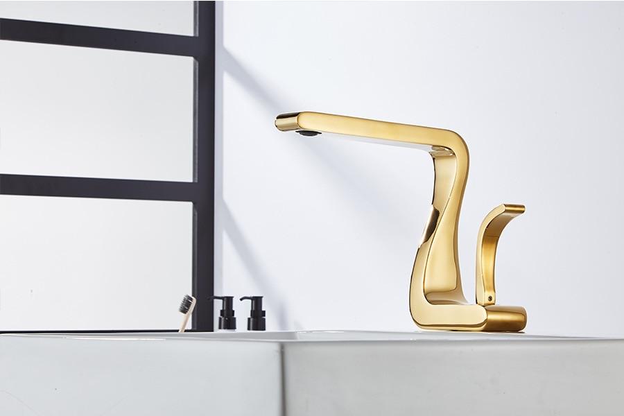 H3ed42604b6934474a040d4b00127364dS Tuqiu Basin Faucet Gold Bathroom Faucet Mixer Tap Brass Wash basin Faucet Hot and Cold Sink Faucet New Modern