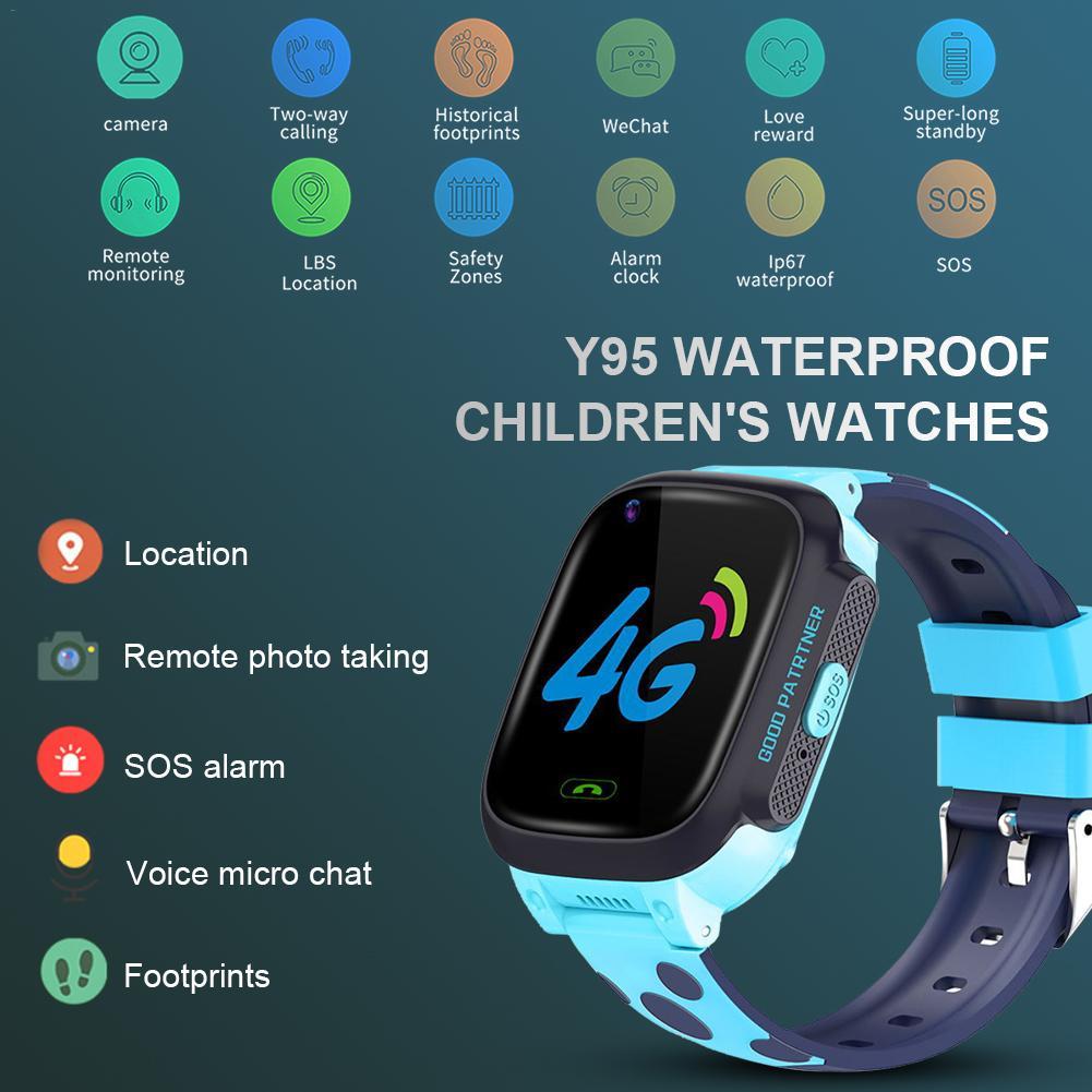 Y95 crianças 4g relógio inteligente hd chamada