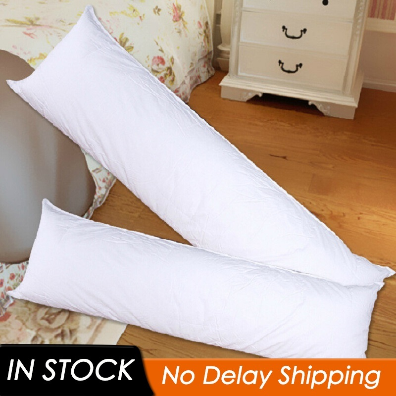 Long Pillow Inner White Body Cushion Pad Anime Rectangle Sleep Nap Pillow Home Bedroom White Bedding Accessories 150 X 50CM
