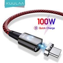 Kuulaa pd 100ワットusbタイプcタイプcケーブルxiaomi mi 10tプロポコx3磁気5A急速充電ケーブルmacbook proのコード