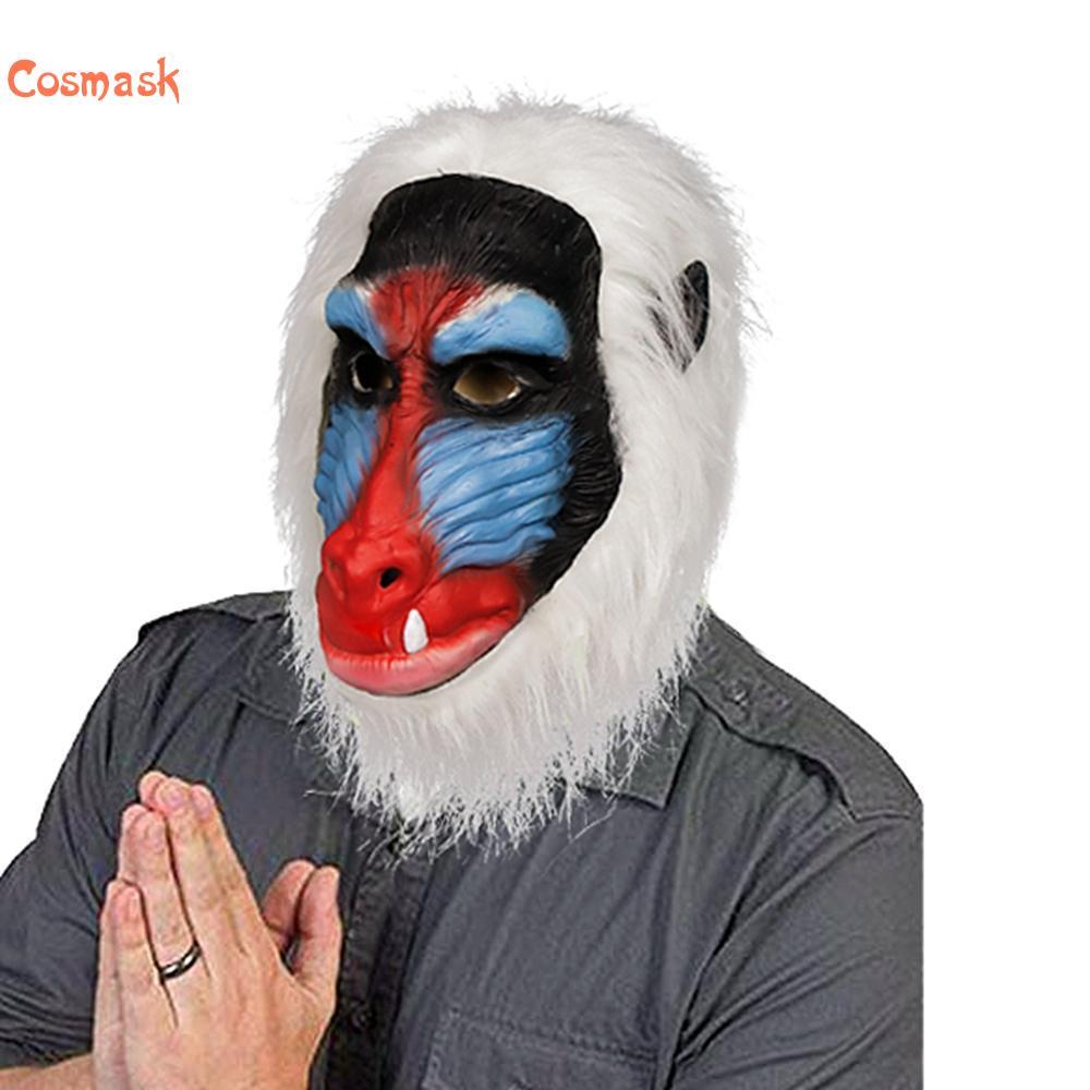 Cosmask Masque de Singe Danimal En Latex Babouin Gelada Masques pour Halloween