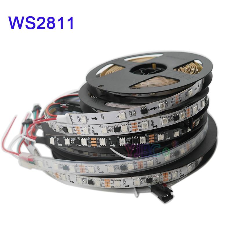Addressable WS2811 Smart Pixel Led Strip;1m/3m/5m DC12V 30/48/60leds/m Full Color  WS2811 IC RGB Led Light Tape