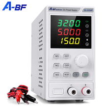 A-BF Laboratory DC Power Supply Unit Adjustable 4 Digit Mini Lab Bench Power Supply Source Memory Function Voltage Regulator