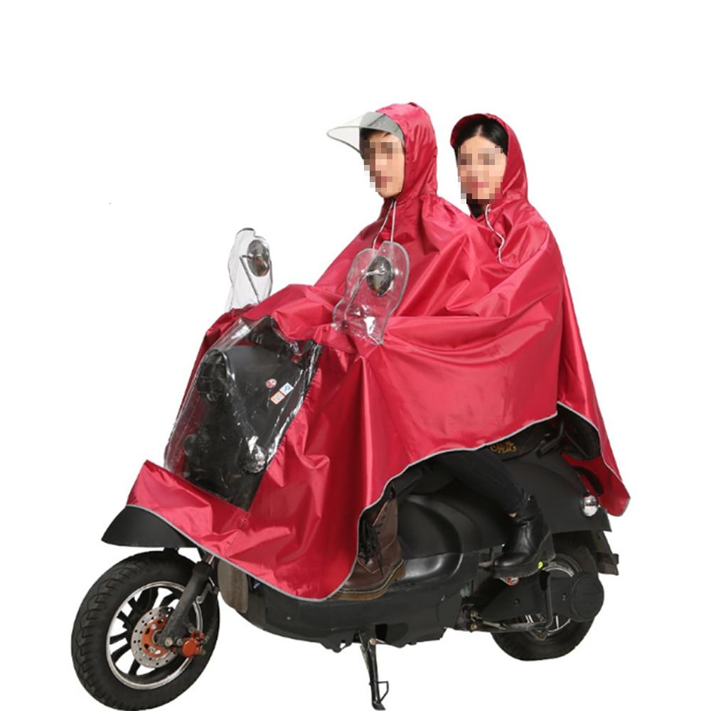 Poncho de pluie Double tissu Oxford épaissi pour deux personnes avec bande réfléchissante moto imperméable voiture électrique