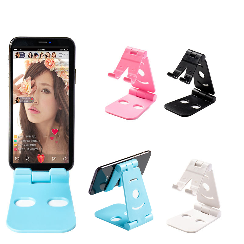 Desk Phone Holder Multi-angle Fold Mount Stand Kitchen Office ABS Non-slip Bracket For Mobile Holder