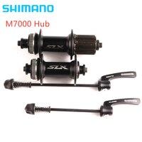 SHIMANO SLX M7000 Hub & Quick Release 8/9/10/11 Geschwindigkeit Vorne Hinten Disc Bremse Spieß 32H Schwarz Center Lock Hub Fahrrad Naben    -