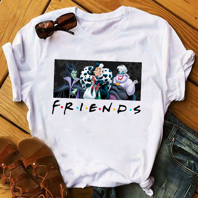 Women 2020 Cartoon Friends Funny Villain Maleficent Queen Lady Ladies Graphic T-Shirt Female Womens Top T-shirts Tee image