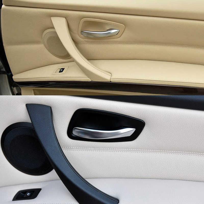 רכב פנים פנימי ידית דלת לוח Trim כיסוי עבור BMW E90 E91 3 סדרת 318 320 325 328 2005-2012 אביזרי רכב שחור בז'