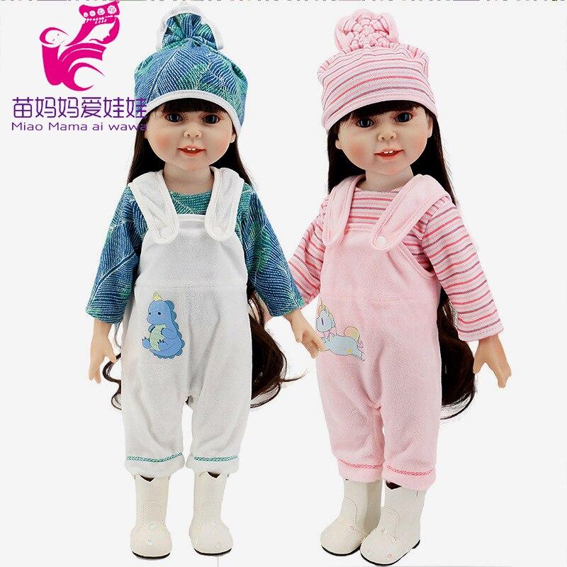 """40 см; Одежда для новорожденных; комбинезоны; 18 """"; брюки на бретельках; аксессуары для кукол; подарок на Новый год для маленьких девочек"""