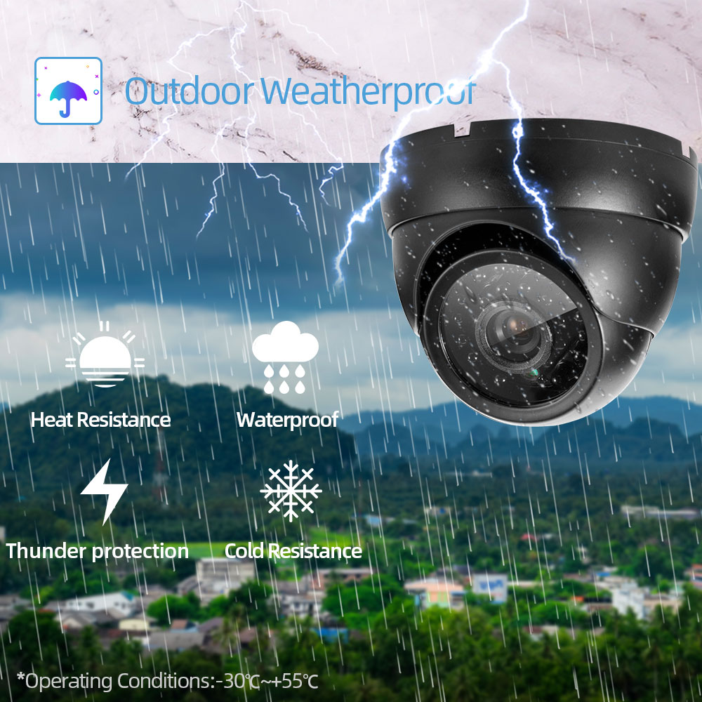 NINIVISION H.265 + 4CH AI Face Detection 5MP POE IP Dome Camera System Kits Waterproof CCTV Security Video Surveillance Set