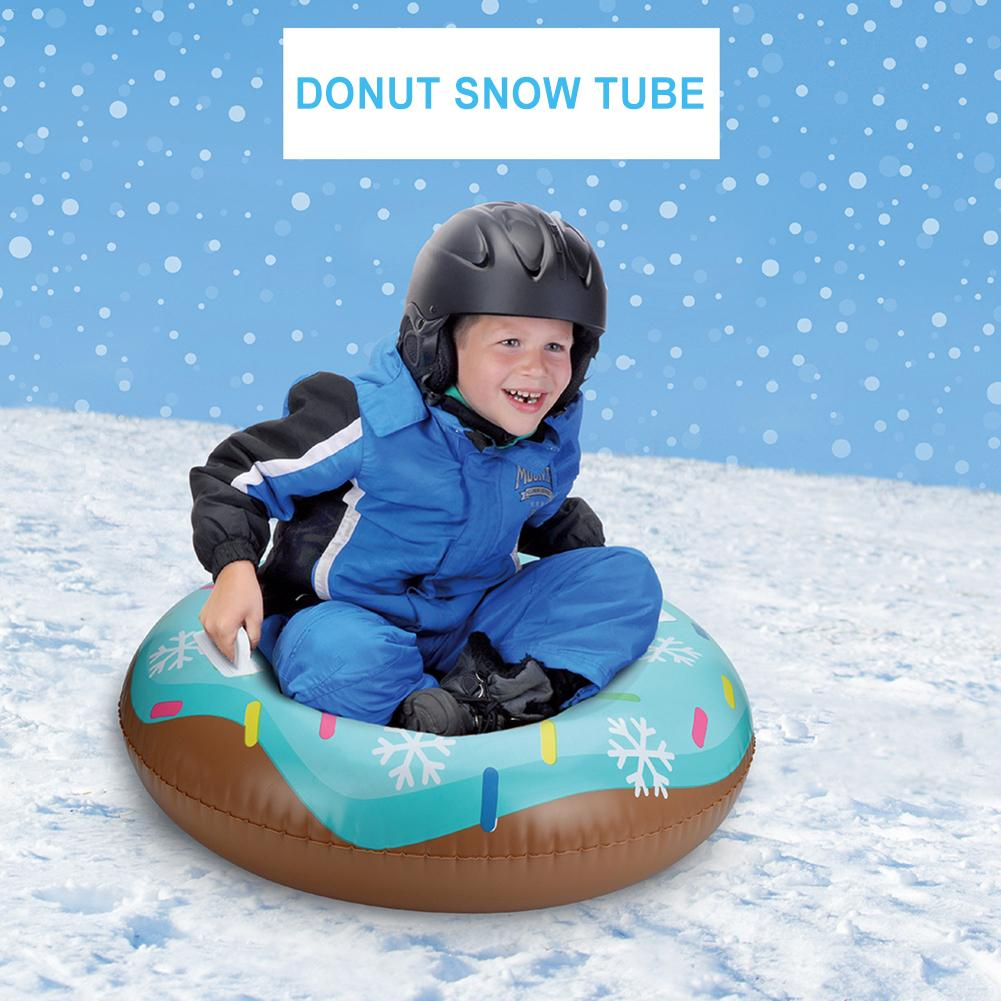 Skiing Pad Board Inflatable Durable Tire Snowboard Sleds For Kids Children Adult Ski Ring Inflatable Durable Tire Snowboard Tube