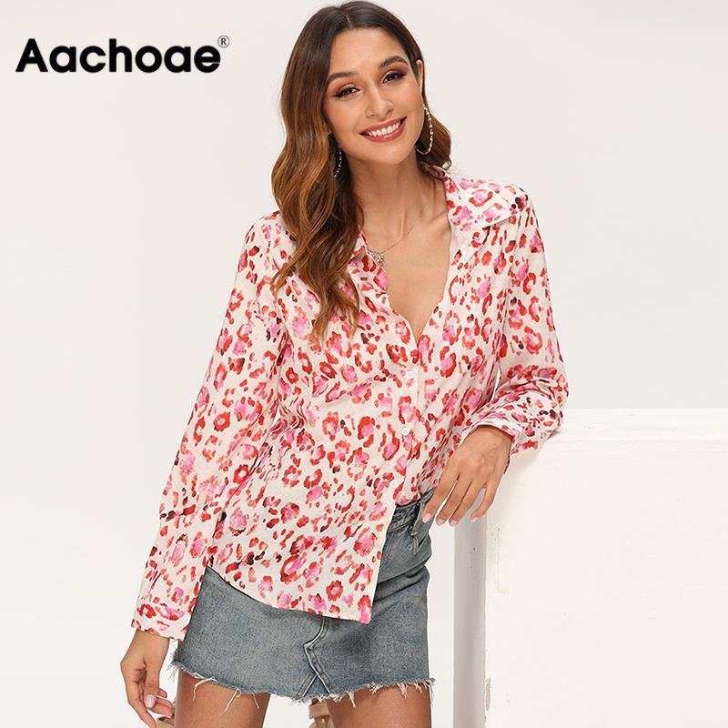 Women   Blouses   2020 Fashion Printed Long Sleeve Vintage   Blouse     Shirt   Casual Turn Down Collar Ladies Tunic Tops Plus Size Blusas