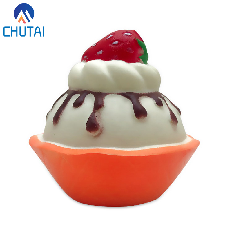 2020 NEW Arrival Kawaii Strawberry Chocolate Cake Squishy Slow Rising Squeeze Toys Kids Baby Decompression Toys 10*9 CM