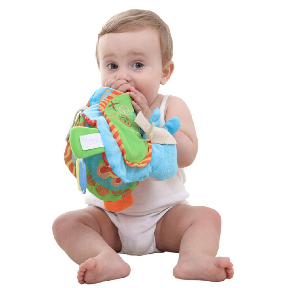 Baby Cloth Book Multifunctional Ringing Paper Children Soft Cloth Intelligence Development Learn Picture Cognize Book L0218