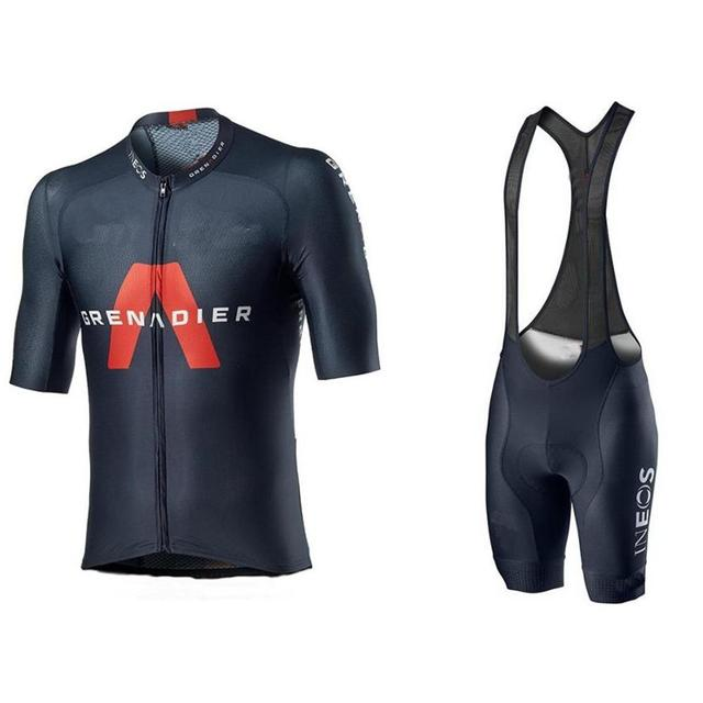 2020 nova ineos granadier dos homens camisa de ciclismo shorts pro equipe bicicleta terno traje ciclismo hombre bib shorts almofada gel bicicleta corrida kit 1