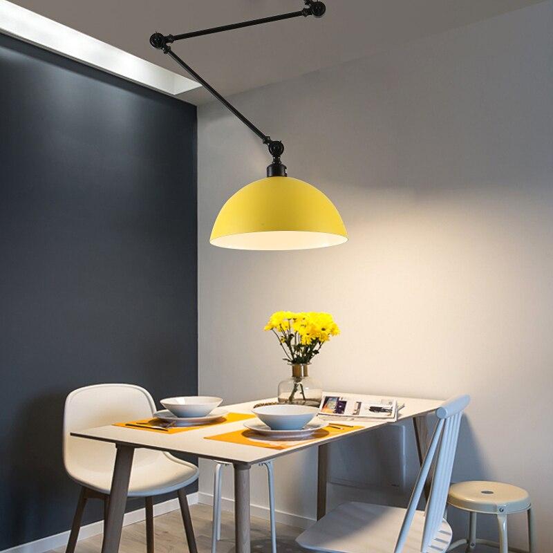 Design nordique réglable bras Long suspension en Aluminium appliques LED plafond suspension lampe pour salon chambre salle à manger - 3