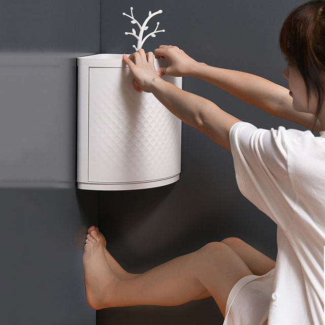 New Plastic 360 Rotating Bathroom Kitchen Storage Rack Organizer 5