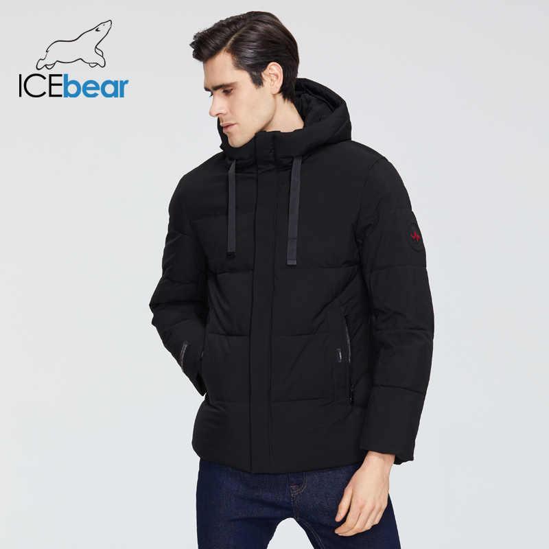 Icebear 2019 novas roupas masculinas de alta qualidade inverno quente casaco marca jaqueta mwd19851i