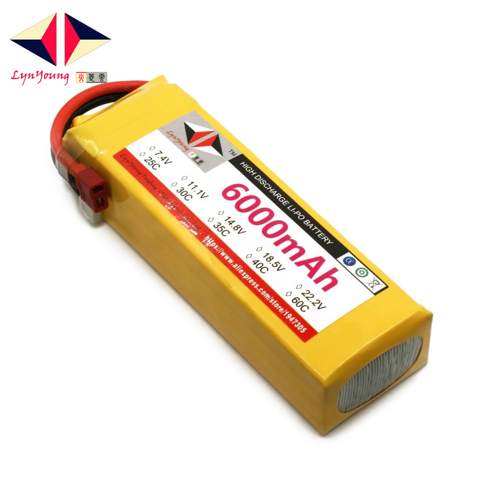 LYNYOUNG 14.8V <font><b>6000mAh</b></font> 25C 30C 35C 40C 60C <font><b>4S</b></font> <font><b>Lipo</b></font> Battery For RC Drone Car Truck Boat Quadcopter image