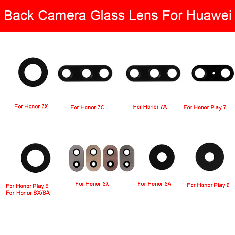 Rear Camera Glass Lens Cover For Huawei Honor 6A 6X 7A 7C 7X 8C 8X Back Camera Glass Lens Sticker For Huawei Honor Play 8A 6 7