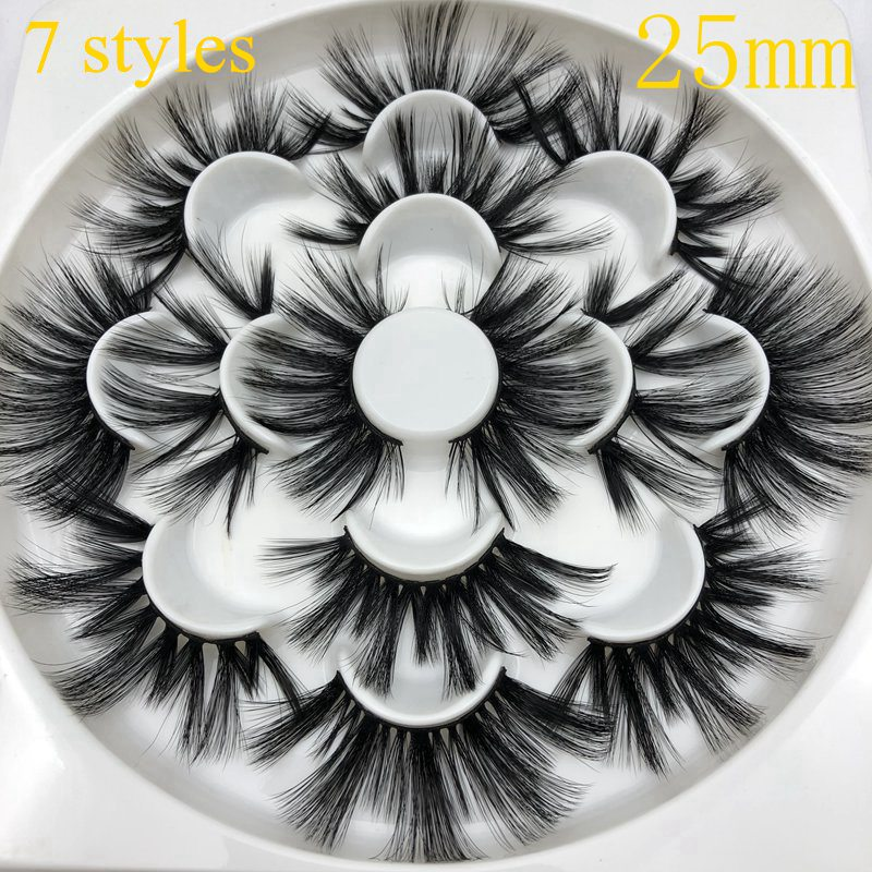 Buzzme 25mm Lashes 6D Faux Mink Lashes Natural Long High Quality Eyelashes Mikiwi Lash Synthetic Eyelash