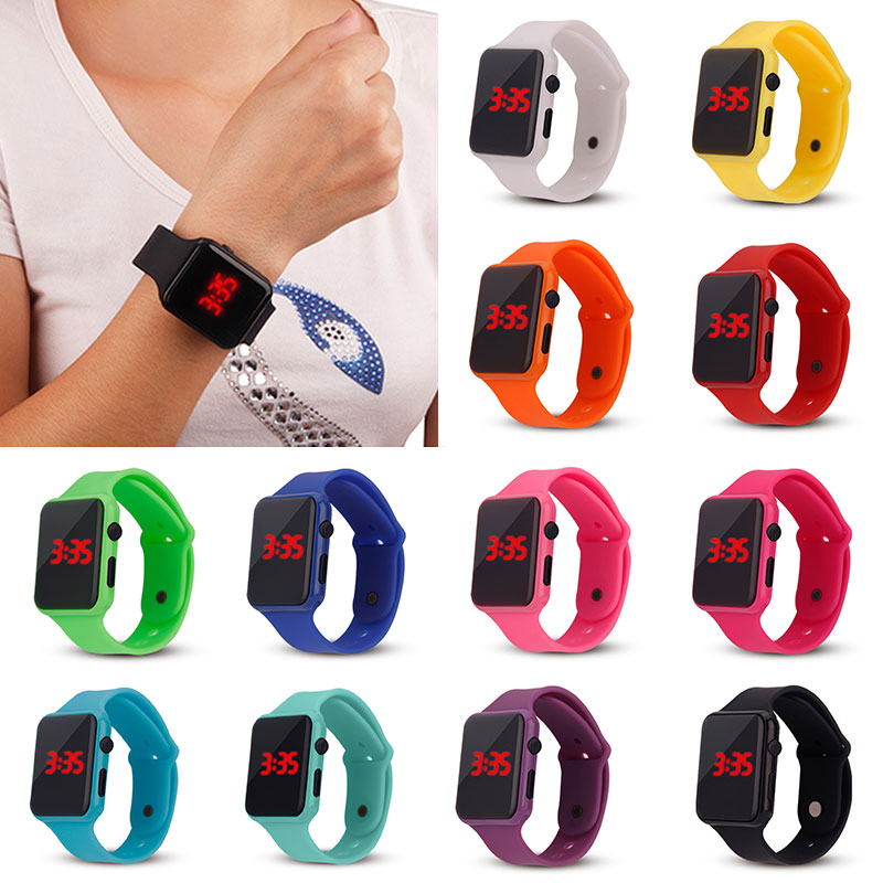 Electronic Digital Waterproof LED Display Wrist Watch For Child Boy Girl Kids