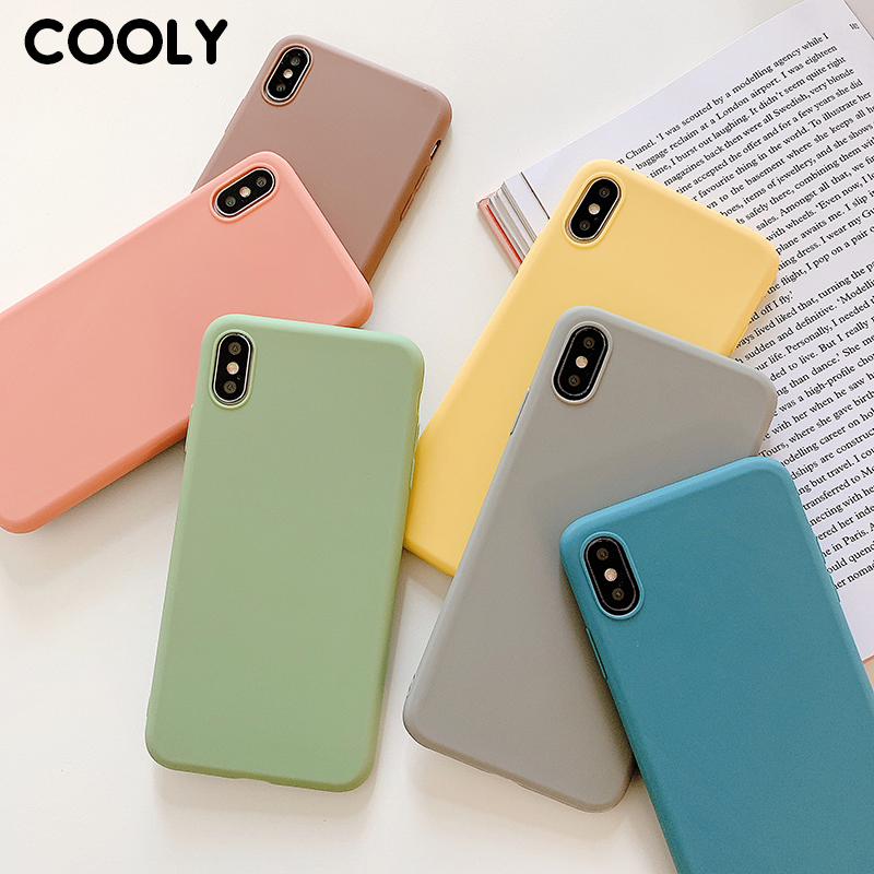 COOLY Candy Color Case For Samsung Galaxy S10 Plus S10e S9 S8 S7 edge Back Cover on Note 8 9 C7 Pro C9 TPU Silicone Phone Coque image