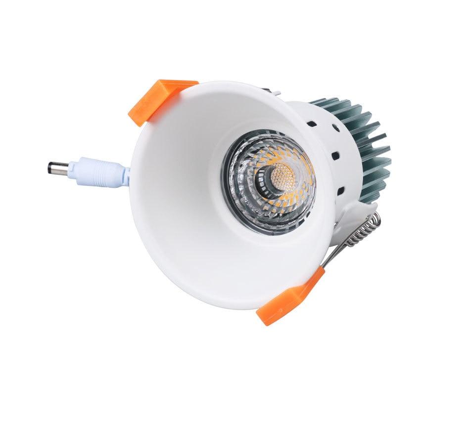 12W 85-265V AC Ceiling Light White Aluminnum Indoor Lighting Led downlight Dimmable COB Spot Lamp Knob Switch Foyer Spotlights (5)