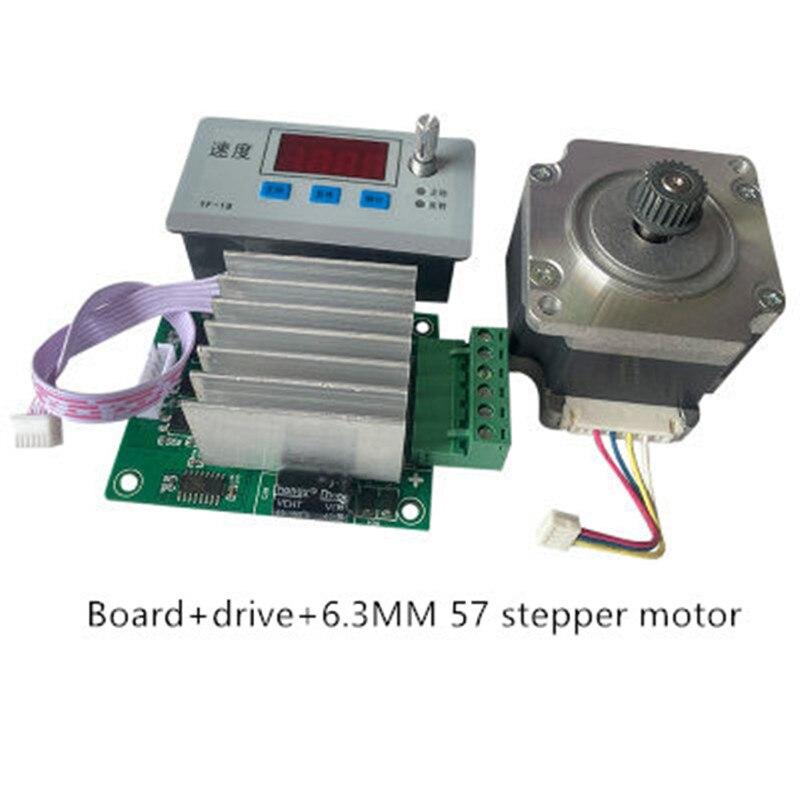 Плата управления шаговым двигателем и Реверсивный шаговый двигатель 8 мм 6,3 мм 57 дюймов/импульс/регулирование скорости/модуль/дисплей скоро...
