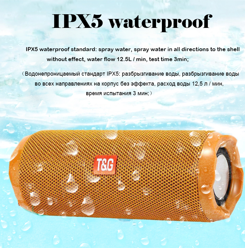 20W IPX5 waterproof bluetooth speaker stereo bass dual diaphragm subwoofer portable sound system soundbox caixa de som FM radio