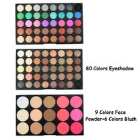 2020 95 Colors Waterproof Eye Shadow Make Up Palette Sets Eyes Blush + Powder + Shimmer & Matte Eyeshadow