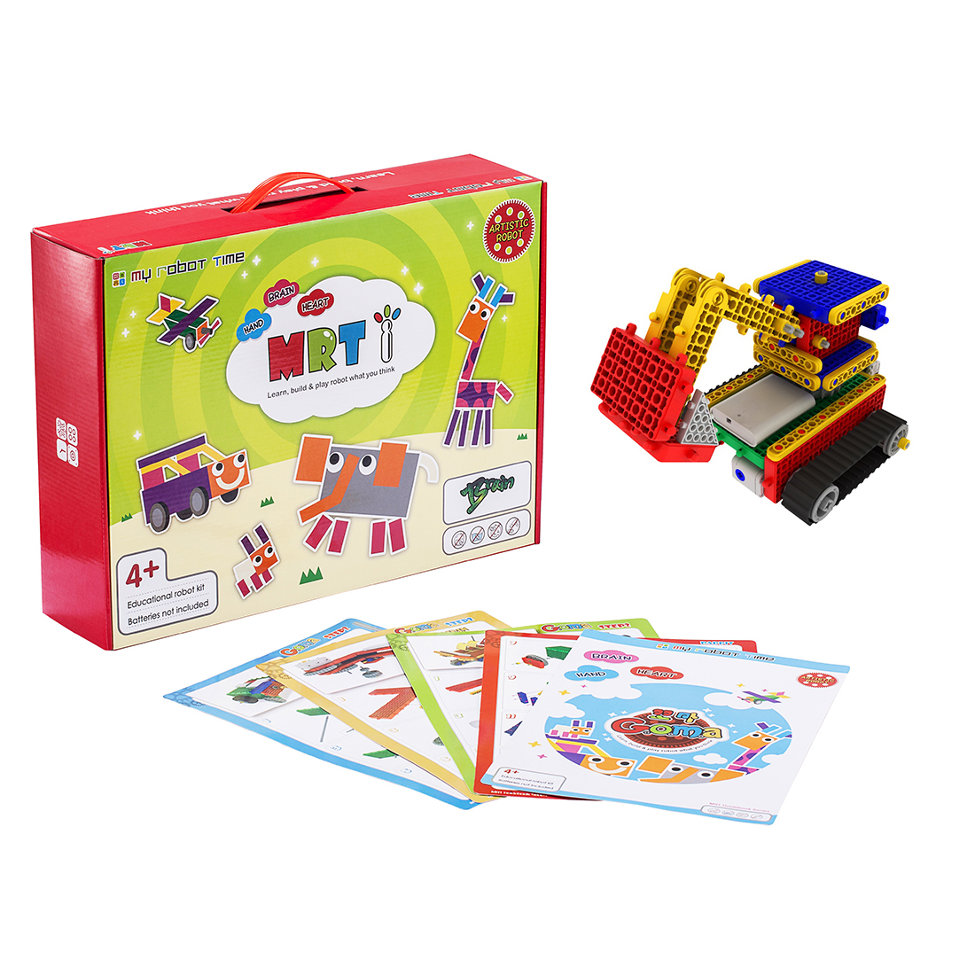 My Robot Time MRT 1-Goma Hand Colorful Robots Bulding Block Kit Assembly Educational Robot Toy For Beginner 4-5 Years Old