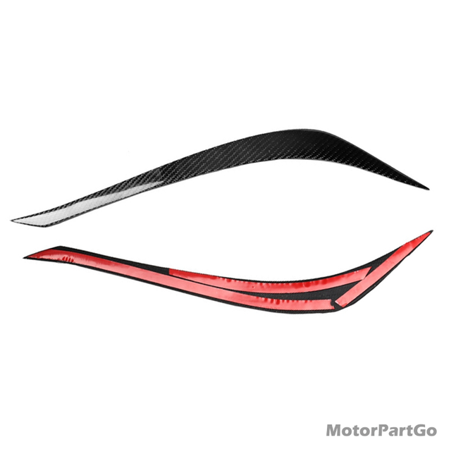 Real Crabon Fiber Head light Eyelid Eyebrow Cover Trim 1pair for  Toyota REIZ 2010-2012 T230 5