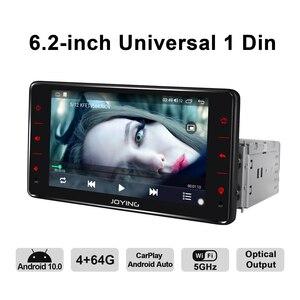 """Image 5 - Radość 6.2 """"Radio pantalla 1 din uniwersalny Android 10 Autoradio Audio 4GB + 64GB Multimedia Carplay magnetofon wyjście optyczne"""