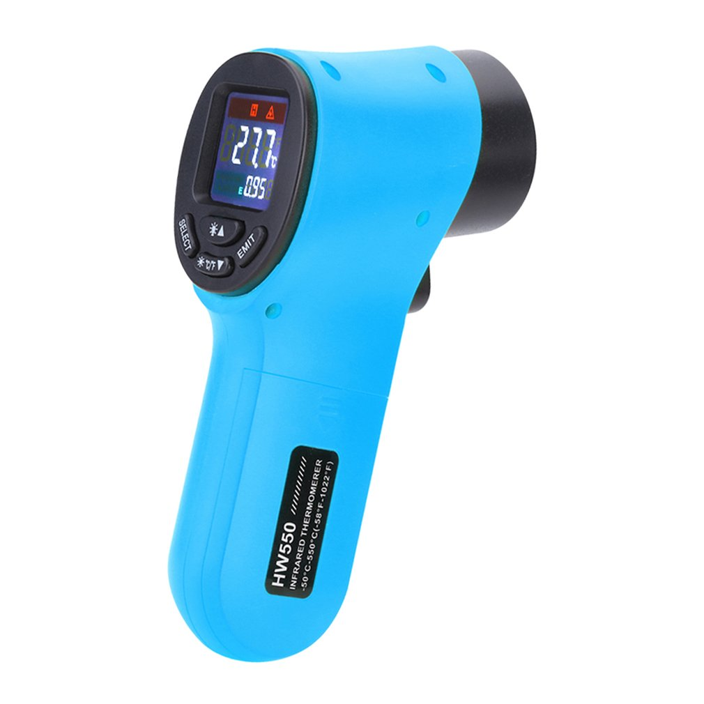 Handheld Display Digital LCD Indoor Convenient Non-contact Temperature Tester Industrial Infrared Thermometer HW570