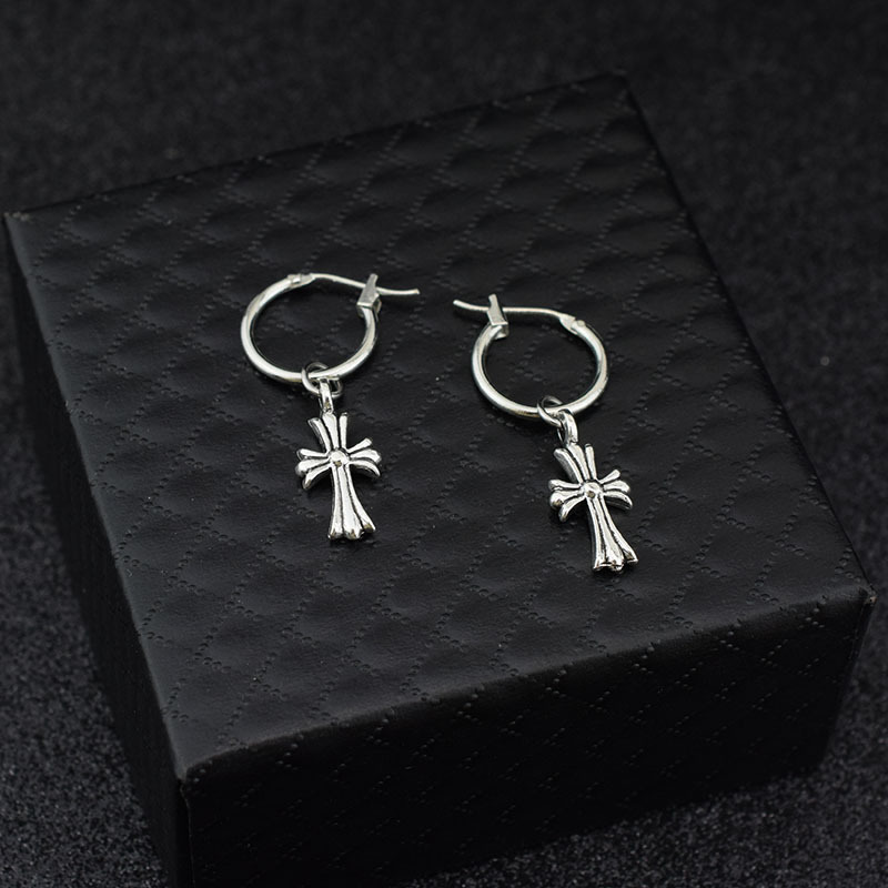 1pair Kpop Cross Tassel Earrings The Same Style As Bangtan Jimin Dangle Earring Ear Ring Clip Kpop Bangtan Boys Earstud