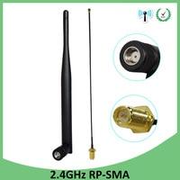 אנטנה 5dbi rp sma 2.4GHz 2.4G wifi אנטנה wifi 5dBi WiFi אוויר RP-SMA זכר נתב + 21cm PCI U.FL IPX ל RP SMA זכר צמה בכבלים (1)