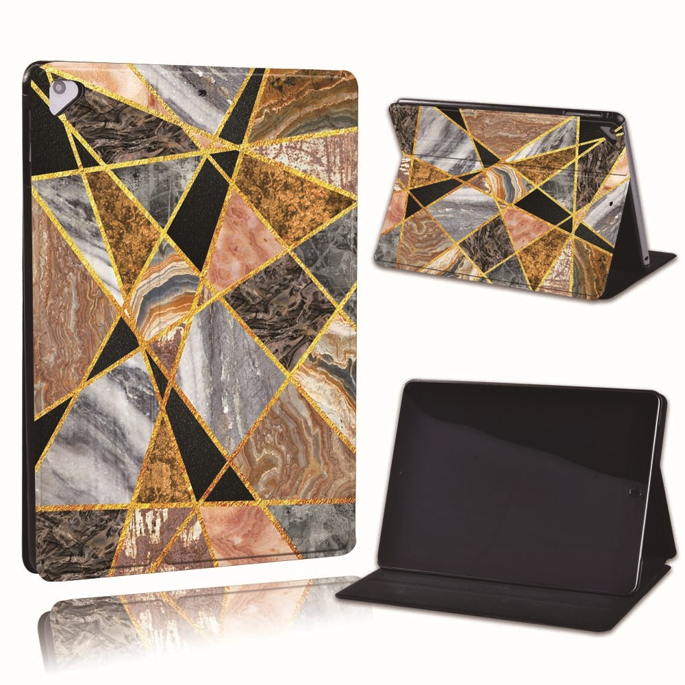 5.golden marble Black For Apple iPad 8 10 2 2020 8th 8 Generation A2428 A2429 PU Leather Tablet Stand