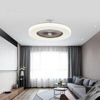 Moderno nordic minimalista ventilador de teto luz painel acrílico led inteligente mudo escurecimento ac 220 v fábrica escritório sala estar dimmer